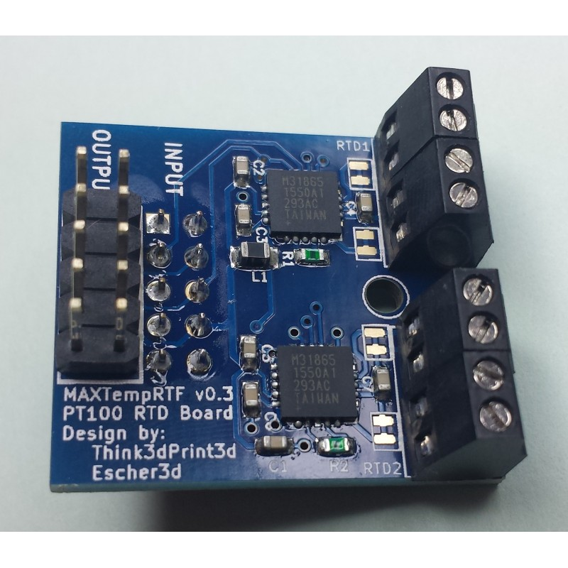 Duet3D - MAX31855 Thermocouple daughterboard for Duet