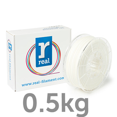 PLA filament White 1.00 mm / 0.5 kg Real