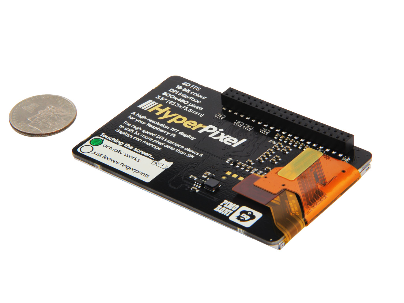Pimoroni HyperPixel - 3.5 (inches) Hi-Res Display for Raspberry