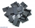 """0.1"""" (2.54mm) Crimp Connector Housing: 1x3-Pin 25-Pack"""