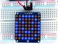 Adafruit Small 1.2&quot; 8x8 LED Matrix w/I2C Backpack - Blue -