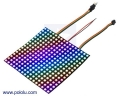 Addressable RGB 16x16-LED Flexible Panel, 5V, 10mm Grid (SK9822)