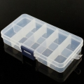 Adjustable Compartment Parts Box - 15 compartments