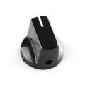 Black Knob - 15x19mm
