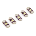 LilyPad LED Set of 5 WHITE