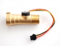 "Liquid Flow Meter - Brass 1/2"" NPT Threaded -"