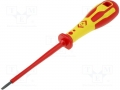 Screwdriver; slot, insulated; Blade:3,0x0,5mm; Overall len:185mm