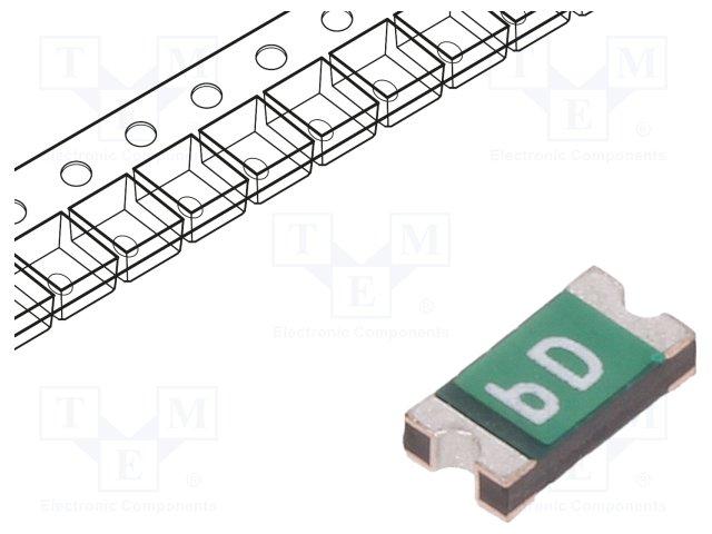 0ZCJ0010FF2E - PTC RESET FUSE 60V 100MA 1206