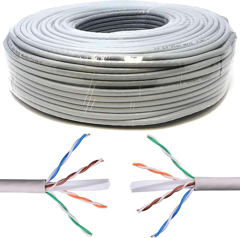 100m Cavo di Rete Ethernet | CAT6, AWG24, CCA, UTP, RJ45