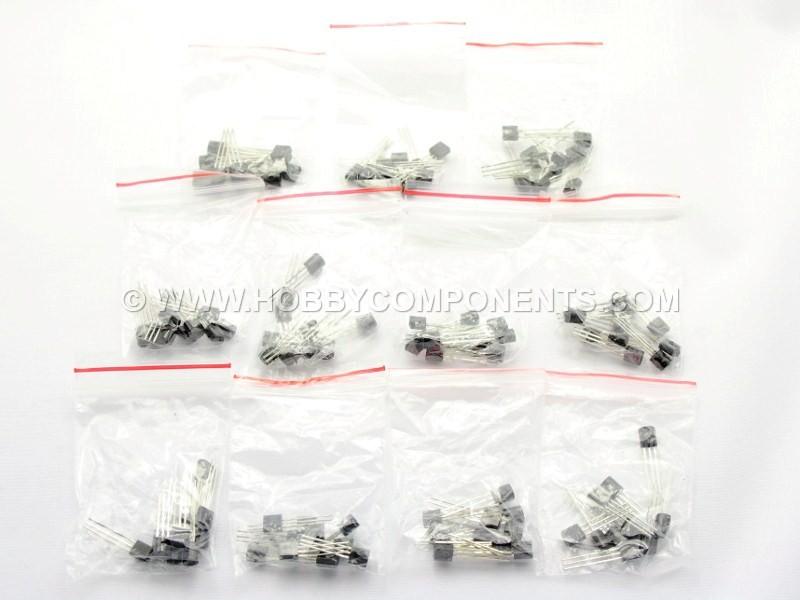 110pcs 11 values each 10pcs Low Power Transistor