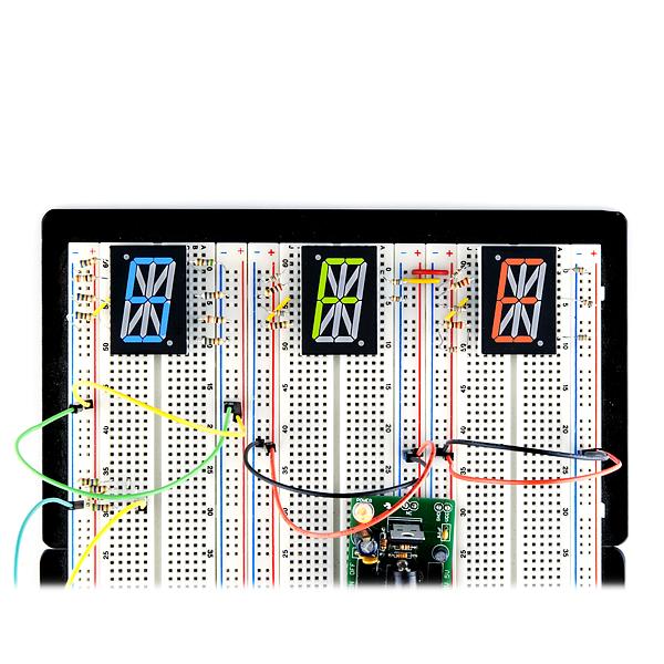 "1.0"" Single Digit Alphanumeric Display - Blue"