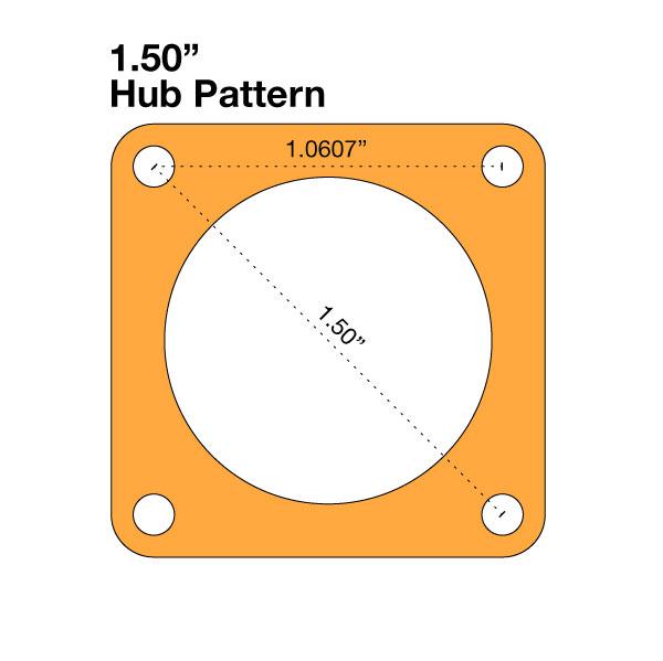 """Gear - Hub Mount (100T; 1.0"""" Bore)"""