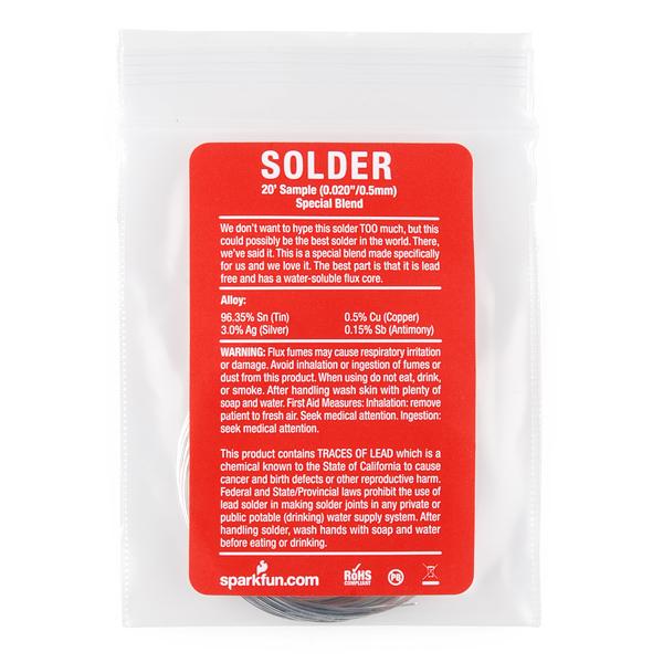 """Solder - 20  Sample (0.020"""") Special Blend"""