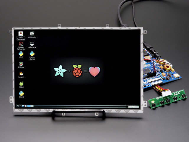 10.1 Display  Audio 1280x800 IPS - HDMI/VGA/NTSC/PAL
