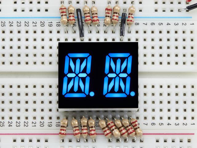 Dual Alphanumeric Display - Blue 0.54 Digit Height - Pack of 2