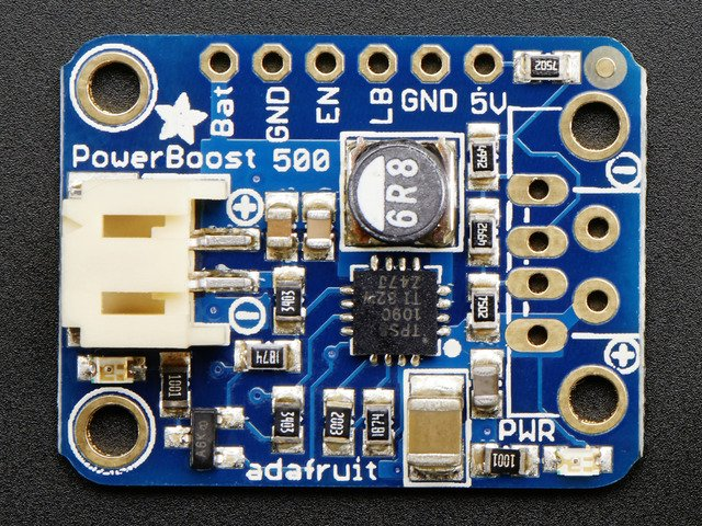 PowerBoost 500 Basic - 5V USB Boost  500mA from 1.8V+