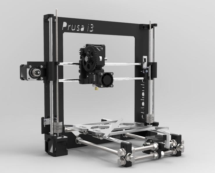 Unassembled Prusa I3 kit - Megatronics