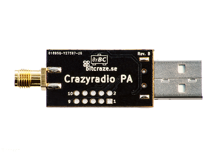 Crazyradio PA - long range 2.4Ghz USB radio dongle with antenna