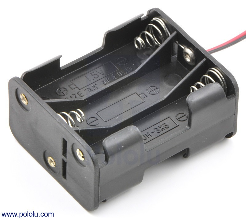 6-AA Battery Holder, Back-to-Back
