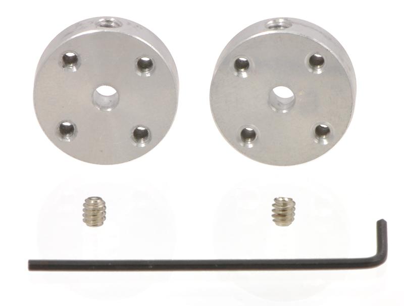Pololu Universal Aluminum Mounting Hub for 3mm Shaft, #4-40 Hole