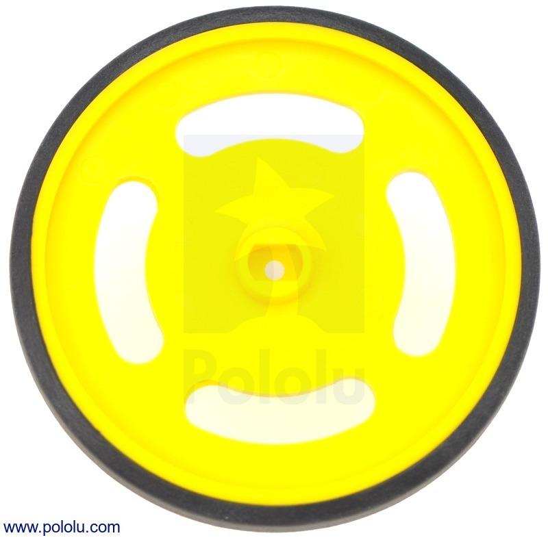 Solarbotics GMPW-Y Yellow Wheel