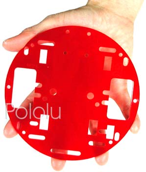 Pololu Robot Chassis RRC01A Solid Red