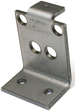 Solarbotics GMB39 (GM3/GM9 Gear Motor Bracket, Laser-Cut Steel)