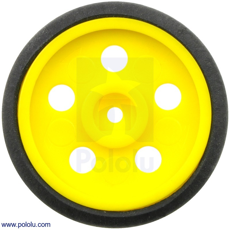 Solarbotics GM10 1 (inches) Wheel Yellow