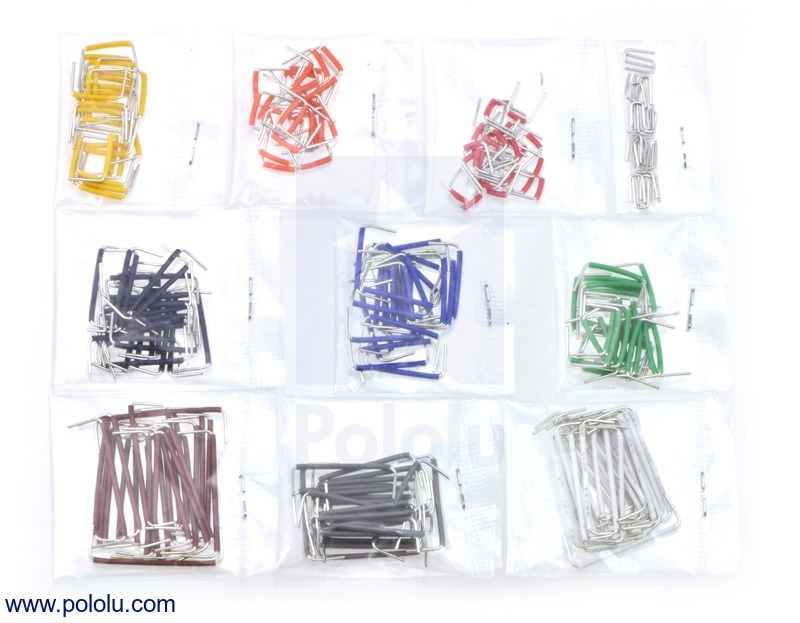 250-Piece Short Jumper Wire Kit without Case (wires up to 1-inch