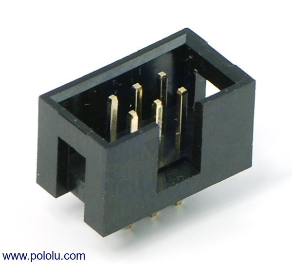 Shrouded Box Header: 2×3-Pin, 0.100 (inches) (2.54 mm) Male
