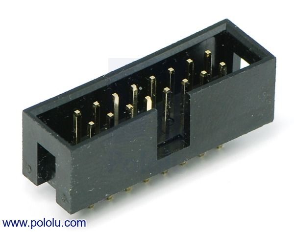 Shrouded Box Header: 2×8-Pin, 0.100 (inches) (2.54 mm) Male