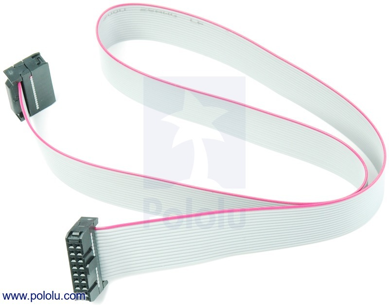 16-Conductor Ribbon Cable with IDC Connectors 20 (inches)