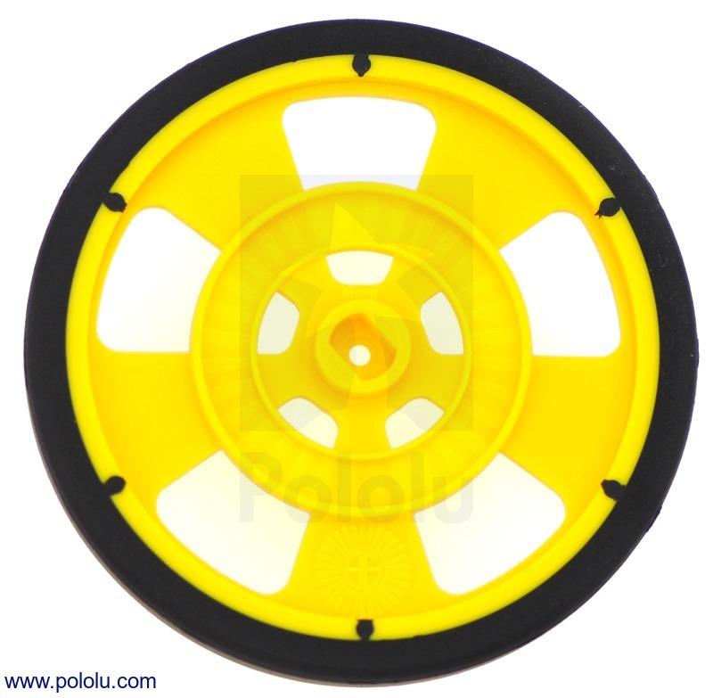 Solarbotics GMPW-Y YELLOW Wheel with Encoder Stripes, Silicone T