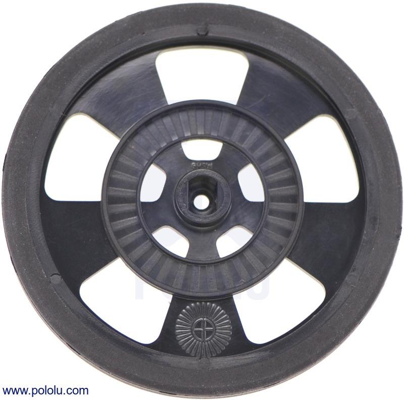 Solarbotics GMPW-B BLACK Wheel with Encoder Stripes, Silicone Ti