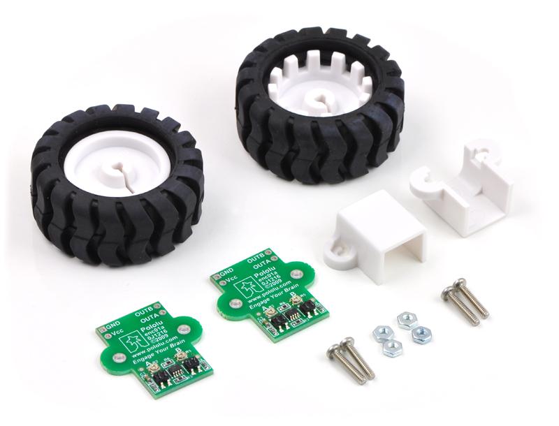 Pololu 42×19mm Wheel and Encoder Set