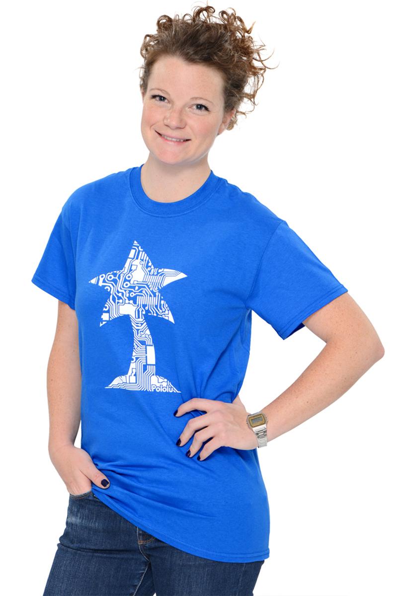 Pololu Circuit Logo T-shirt - Royal Blue - Youth M
