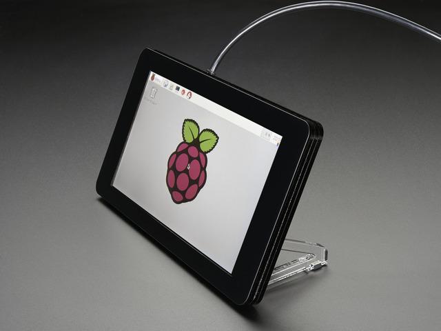 Pimoroni Raspberry Pi 7 Touchscreen Display Case - Noir