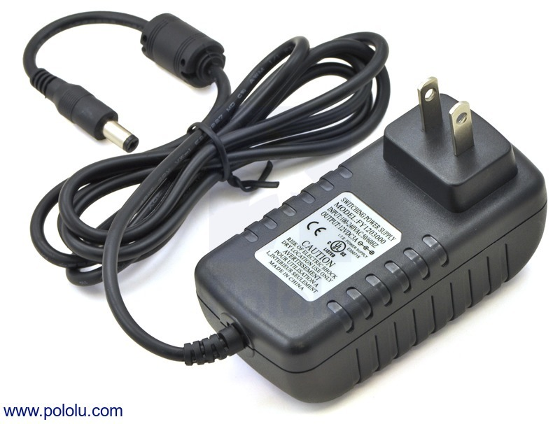 Wall Power Adapter: 12VDC, 3A, 5.5×2.1mm Barrel Jack, Center-Po