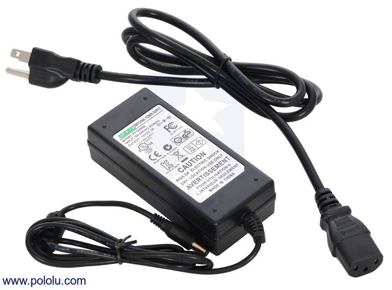 Wall Power Adapter: 12VDC, 5A, 5.5×2.1mm Barrel Jack, Center-Po