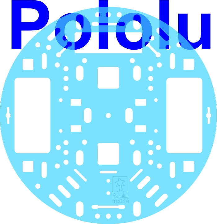 Pololu 5 (inches) Robot Chassis RRC04A Transparent Light-Blue