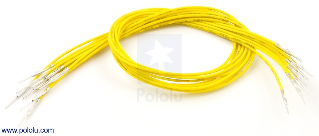 Wires with Pre-crimped Terminals 10-Pack M-M 12 (inches) Yellow