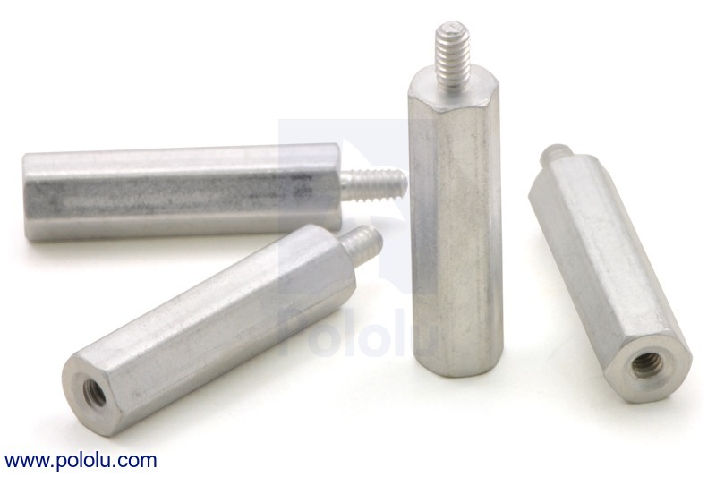 Aluminum Standoff: 3/4 (inches) Length, 2-56 Thread, M-F (4-Pack