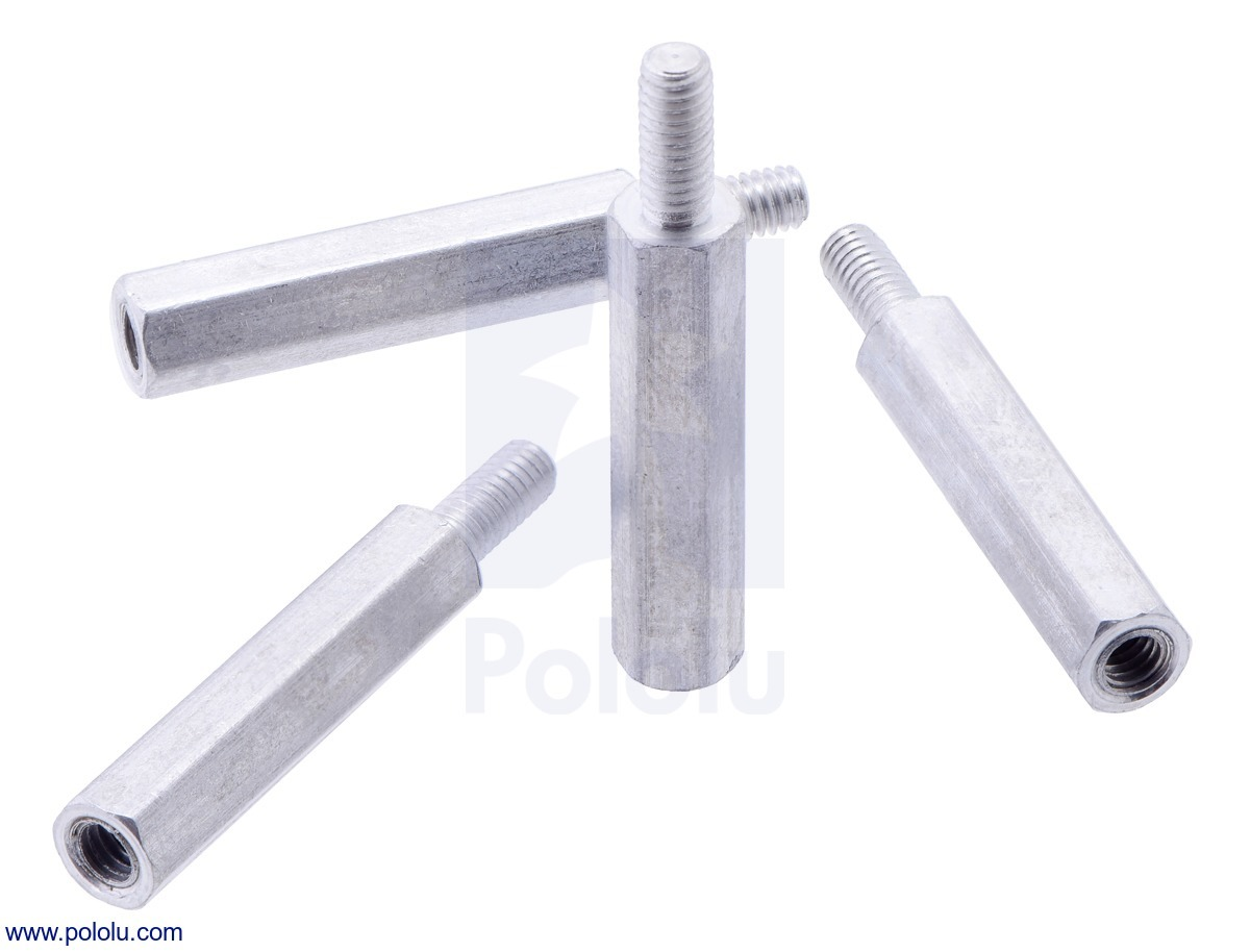 Aluminum Standoff for Raspberry Pi: 18.6mm Length, M2.5 Thread,