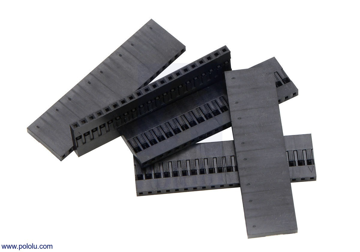 0.1 (inches) (2.54mm) Crimp Connector Housing: 1x20-Pin 5-Pack