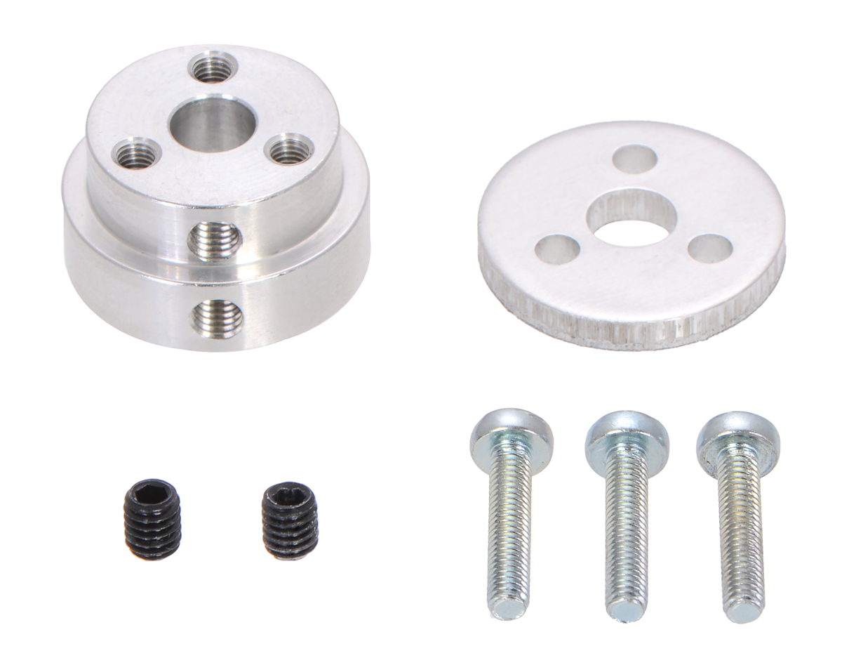 Pololu Aluminum Scooter Wheel Adapter for 1/4″ Shaft