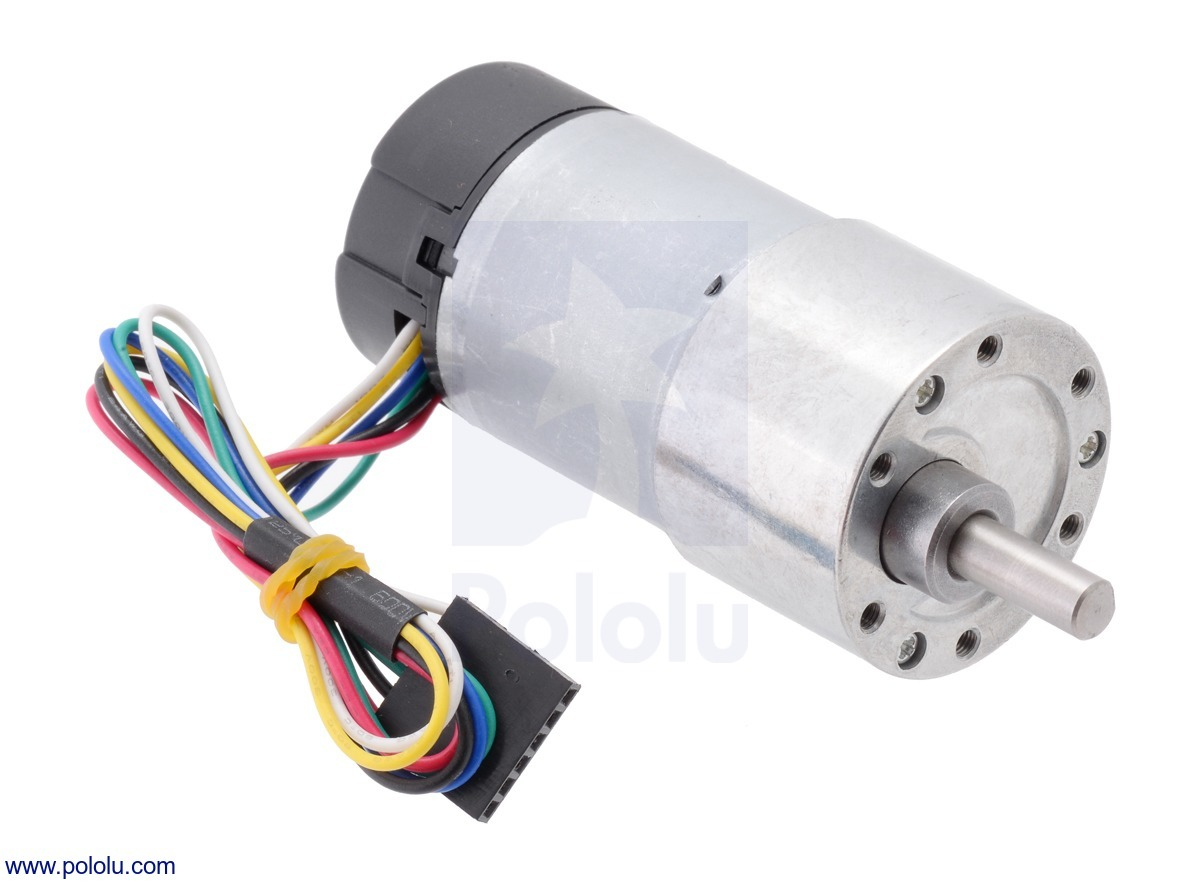 50:1 Metal Gearmotor 37Dx70L mm with 64 CPR Encoder