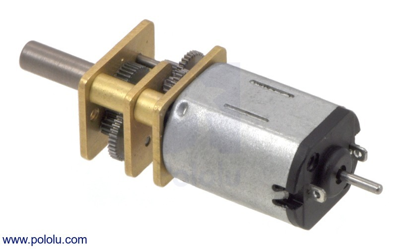 10:1 Micro Metal Gearmotor MP with Extended Motor Shaft