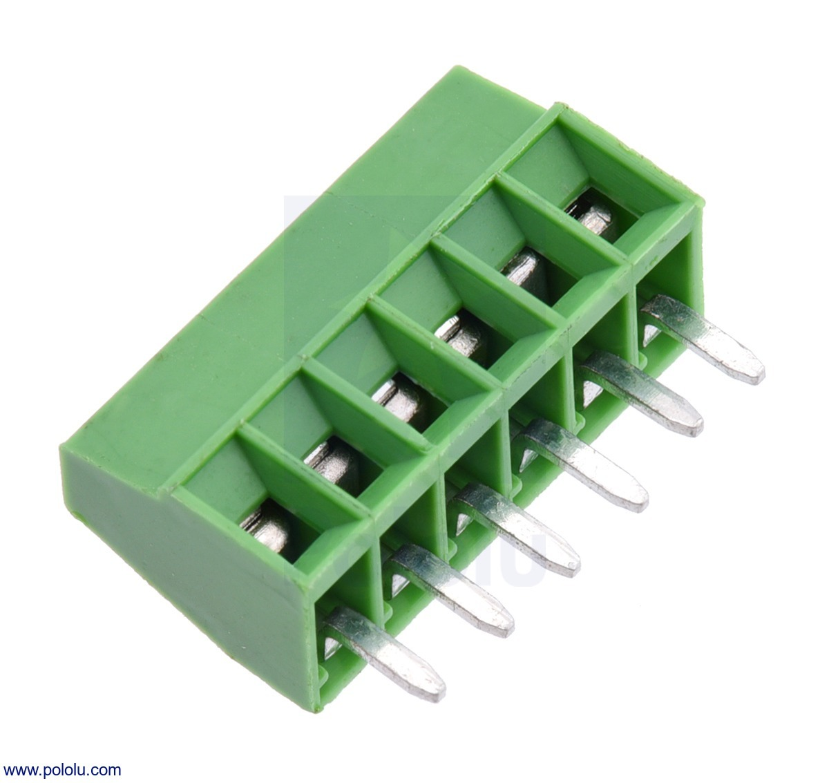 Screw Terminal Block: 6-Pin, 0.1″ Pitch, Side Entry