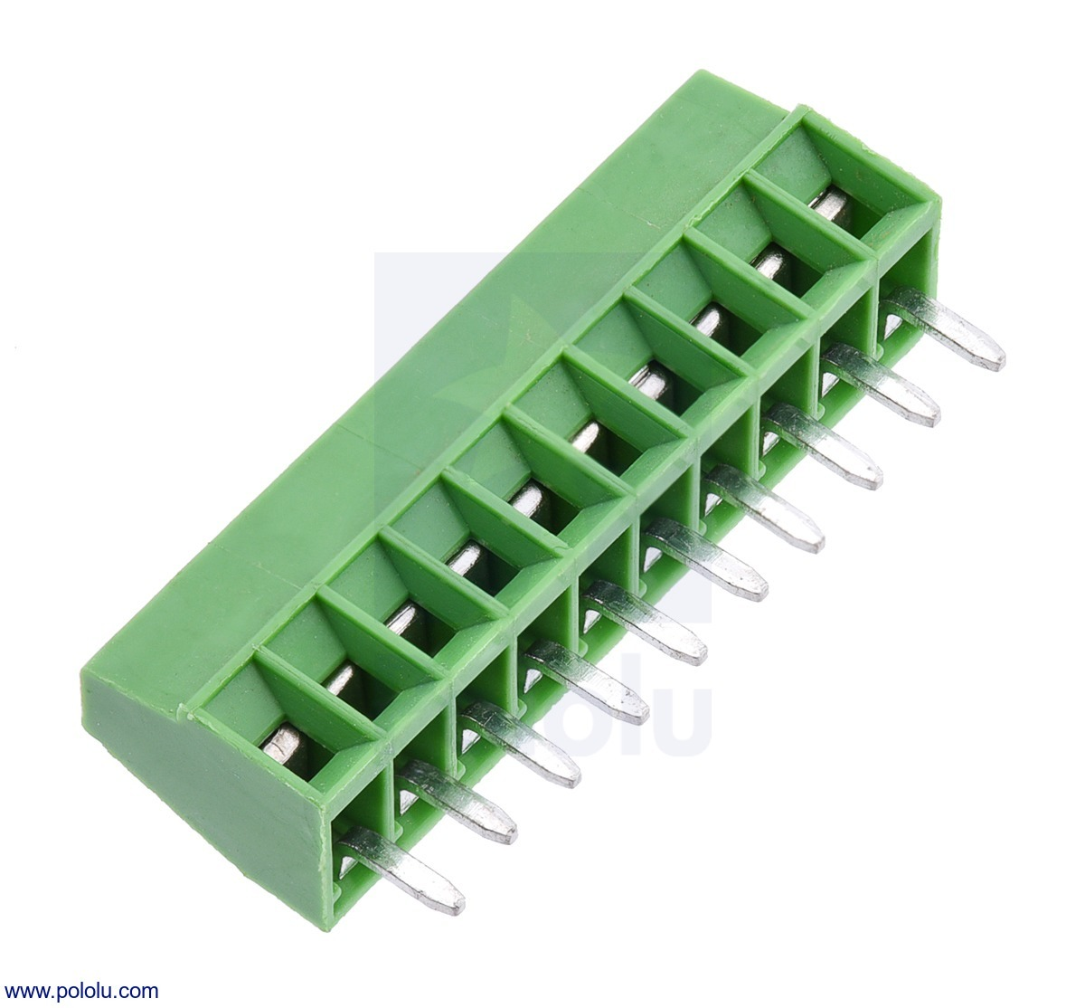 Screw Terminal Block: 10-Pin, 0.1″ Pitch, Side Entry