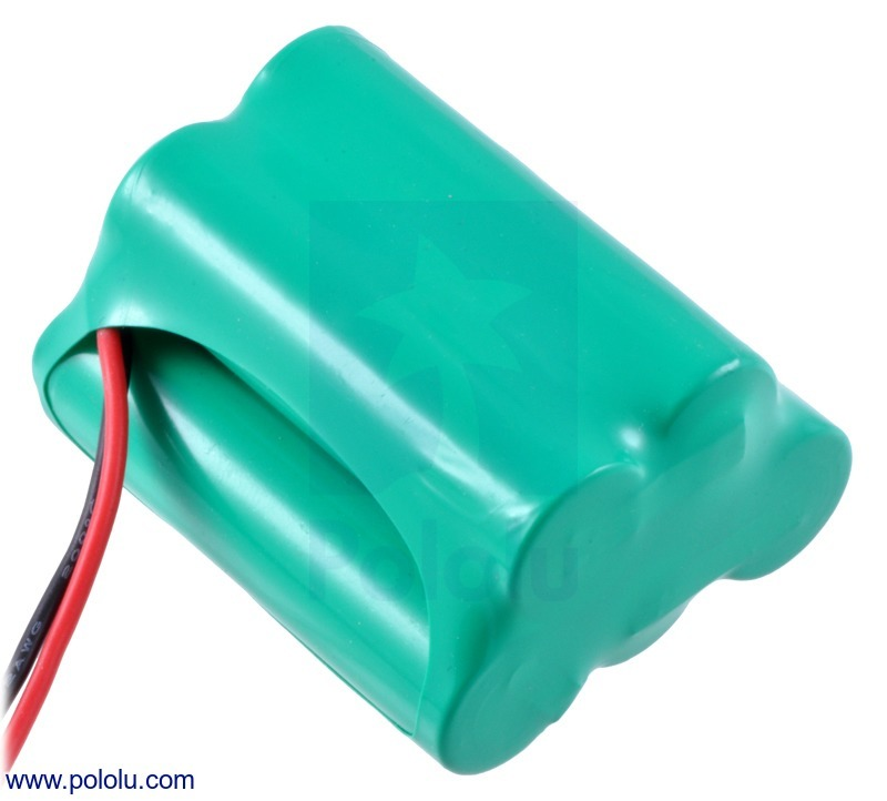 Rechargeable NiMH Battery Pack: 6.0 V, 2200 mAh, 3+2 AA Cells, J